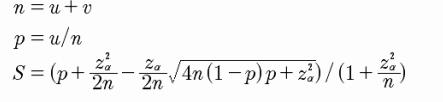 威尔逊算法公式